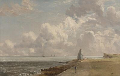 John Constable, 'Harwich: The Low Lighthouse and Beacon Hill', ca. 1820