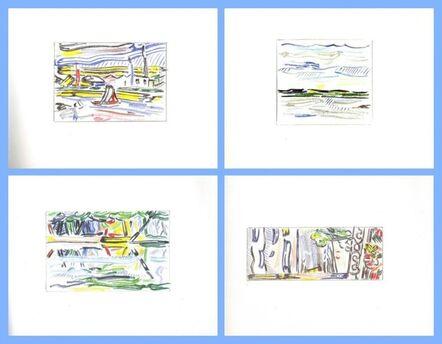 Roy Lichtenstein, 'Limited Edition Hardback Book of Landscape Sketches 1984-1985', 1986