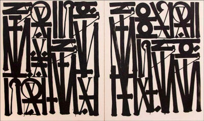 RETNA, 'Say My Name -So You Can See Me (Diptych) ', 2016