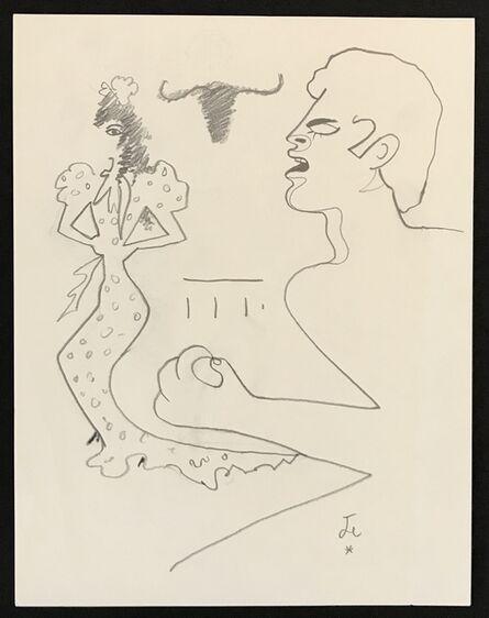 Jean Cocteau, 'Man & Woman', ca. 1955
