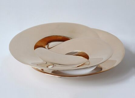 Janne Kyttanen, 'Rollercoaster Tray (Gold)', 2014