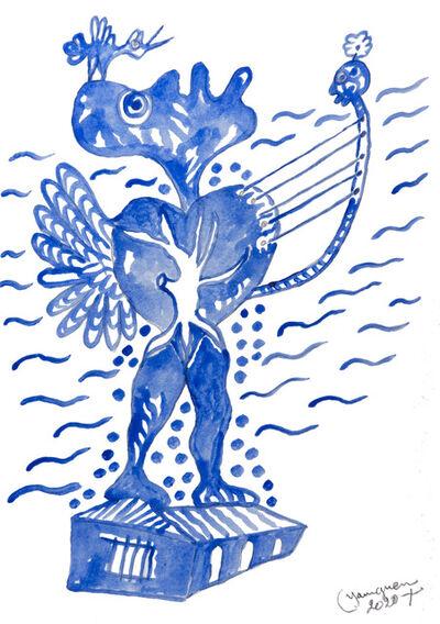Hervé Yamguen, 'L'oiseau bleu #2', 2020