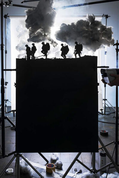 """Cortis & Sonderegger, 'Making of """"Five Soldiers Silhouette at the Battle of Broodseinde"""" (by Ernest Brooks, 1917)', 2013"""