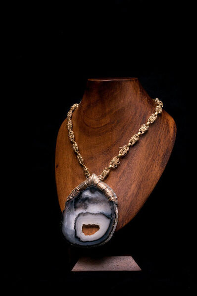 Arthur Koby, 'A11 Brazilian Agate with chain'