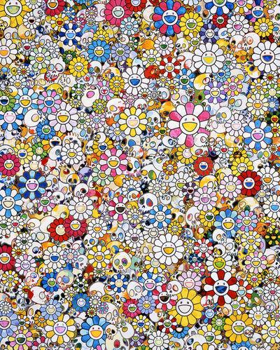 Takashi Murakami, 'Skulls & Flowers Multicolor', 2020
