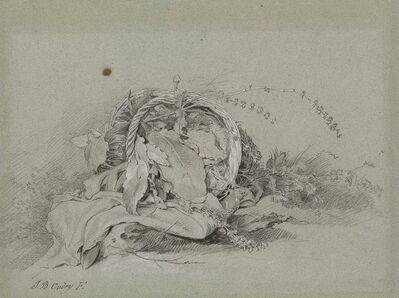 Jean-Baptiste Oudry, 'An overturned basket of wild flowers'