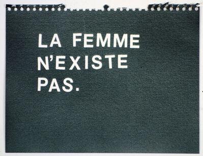Betty Tompkins, 'La Femme N'Existe Pas (black)'