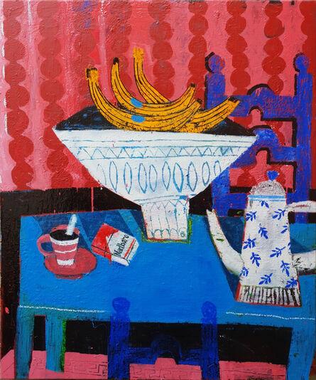 Joachim Lambrechts, 'Blue breakfast table', 2020