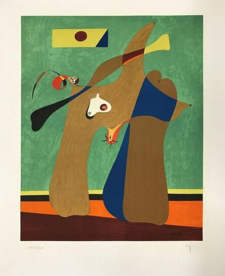 Joan Miró, 'A women', 1958