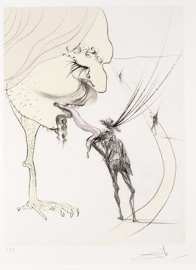 Salvador Dalí, 'Picasso:  Un Billet Pour la Glorie from Apres 50 Ans du Surrealisme'