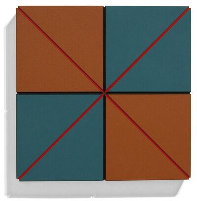 Ronald Davis, 'Turquoise-Brown Eighths ', 2010