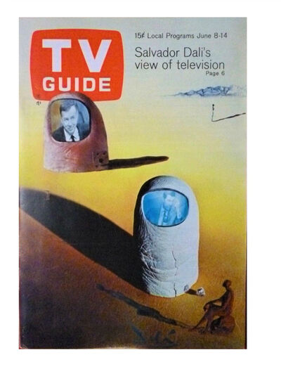 """Salvador Dalí, '""""Salvador Dali's View on Television"""", 1968, TV GUIDE, Article: """"He Prefers to Watch TV Upside Down"""", Complete with all Listings, with NO mailing label. RARE.', 1968"""