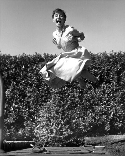 Philippe Halsman, 'Audrey Hepburn, jump series / Vintage Print ', 1955