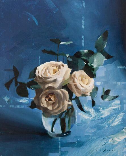 Jon Doran, 'White Roses and Blue', 2018