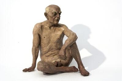Joe Fafard, 'Denis - nude, male, figurative, detailed, bronze, sculpture', 1990