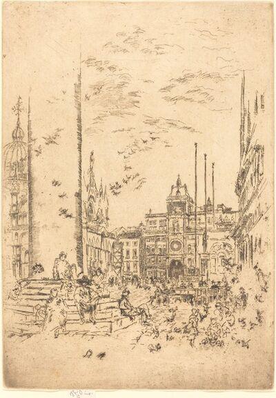 James Abbott McNeill Whistler, 'The Piazzetta', 1880