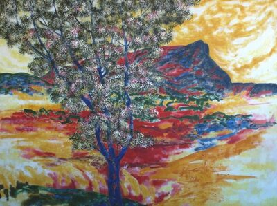 Michael Price, 'Chromatic Spaces No. 7, Blue Tree and Mont Sainte-Victoire', 2011