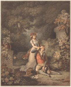 Charles-Melchior Descourtis after Jean Frederic Schall, 'L'Amant surpris'