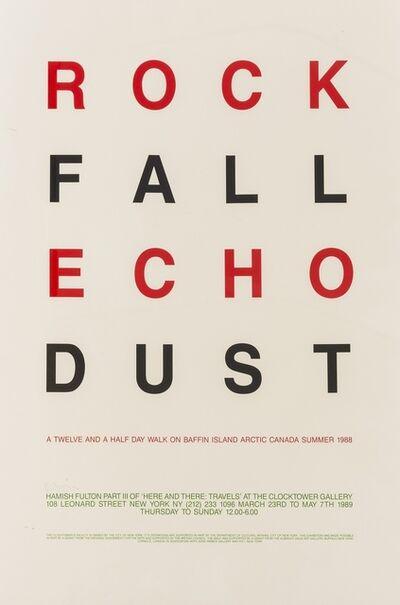 Hamish Fulton, 'Rock Fall Echo Dust', 1988