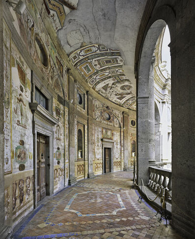 Ahmet Ertug, 'Gallery around the Inner Courtyard, Villa Farnese, Caprarola', 2017