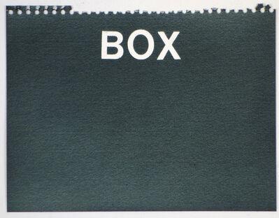 Betty Tompkins, 'Box (black)'