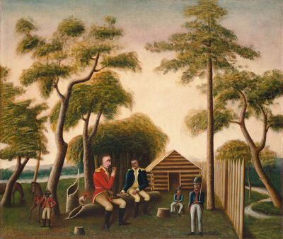 George Washington Mark, 'Marion Feasting the British Officer on Sweet Potatoes', 1848