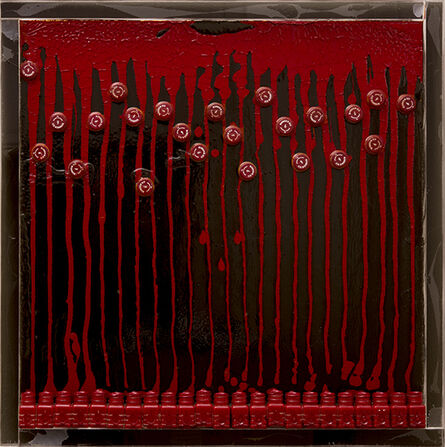 Arman, 'Untitled (Mandarin Red)', 1968