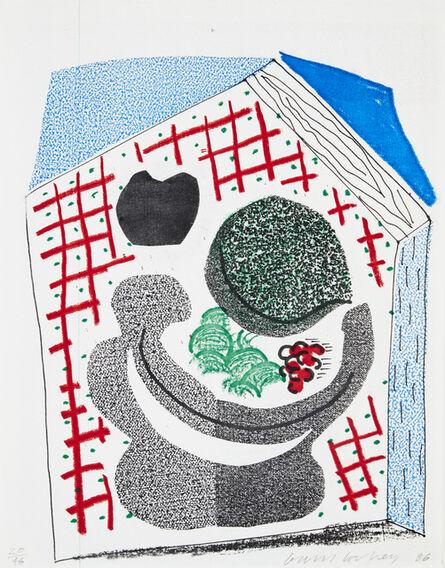 David Hockney, 'Bowl of Fruit', 1986