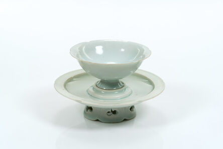 Anonymous, 'Bluish-white (qingbai ) glazed bowl and stand', 906-1279