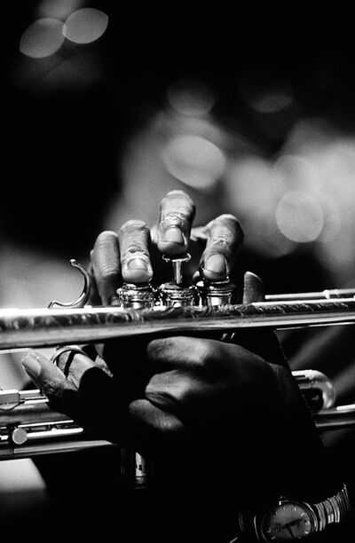 Jim Marshall, 'Miles Davis hands, Monterey Jazz Festival', 1963
