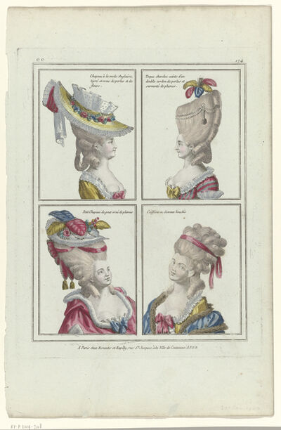 'ee 174: Chapeau à la mode Anglaise (ee 174: Hats in the English Style)', 1780