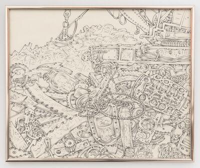 Martin Wong, 'Untitled (junk yard with magnet bulldozer)', ca. 1976