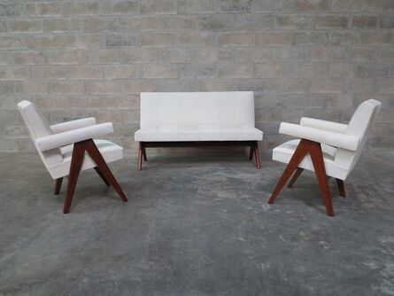 """Pierre Jeanneret, '""""Public Bench settee""""', 1959-1960"""