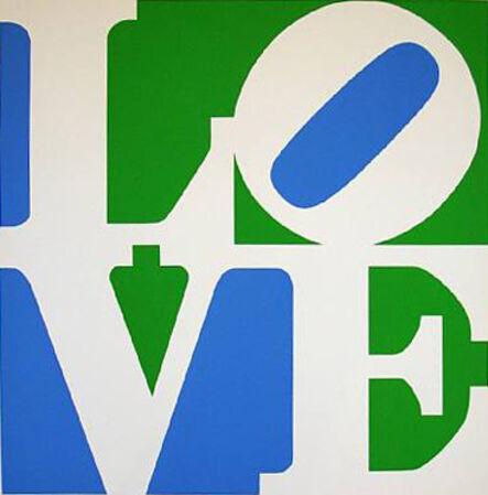 Robert Indiana, 'Love #4 (White/Green/Blue)', 1996