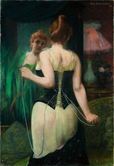 Pierre Carrier-Belleuse, 'Jeune Femme Ajustant son Corset', 1893