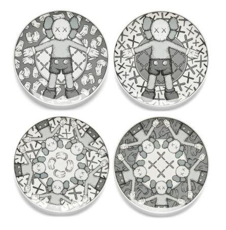 KAWS, 'Limited Ceramic Plate Set - Grey (Set of 4)', 2019