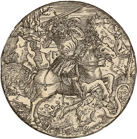 HANS SPRINGINKLEE, 'St. George on Horseback Slaying the Dragon', ca. 1510-20