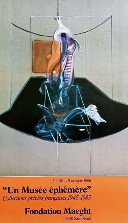Francis Bacon, 'Le Boeuf, 1986 Original Foundation Maeght Exhibition Poster', 1986