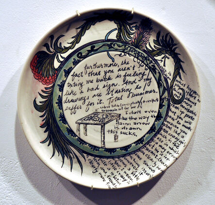 Heather Ossandon, 'Commemorative Plates of Shitty Things: The Break Ups-Me', 2014
