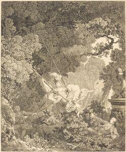 Nicolas Delaunay after Jean-Honoré Fragonard, 'Les Hazards heureux de l'Escarpolette', probably 1782