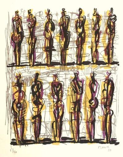 Henry Moore, 'Thirteen standing figures (1958) (signed)', 1958