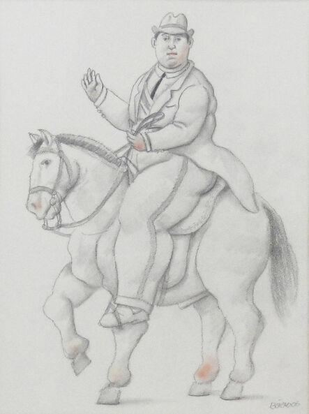 Fernando Botero, 'Man on a horse', 2006