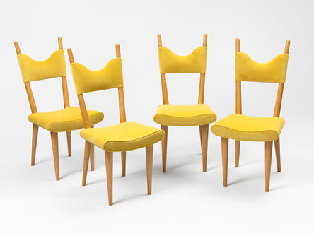 "Jean Royère, 'Set of 4 ""baltique"" chairs', ca. 1950"