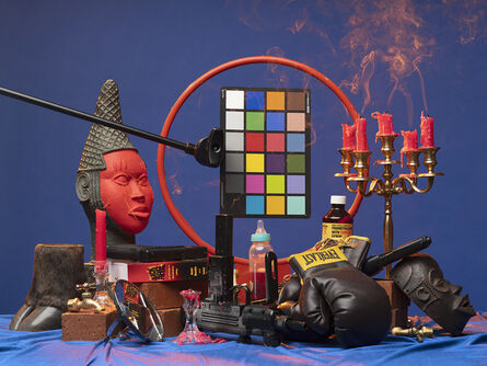 Awol Erizku, 'Black Fire (Mouzone Brothas)', 2019