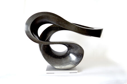 Jeremy Guy, 'Zephyr Minor 6/50 - smooth, black, granite, indoor/outdoor, abstract sculpture', 2019