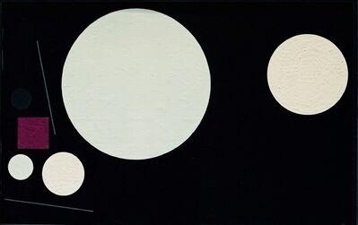 Günter Fruhtrunk, '5 Kreise und violettes Quadrat ', 1956