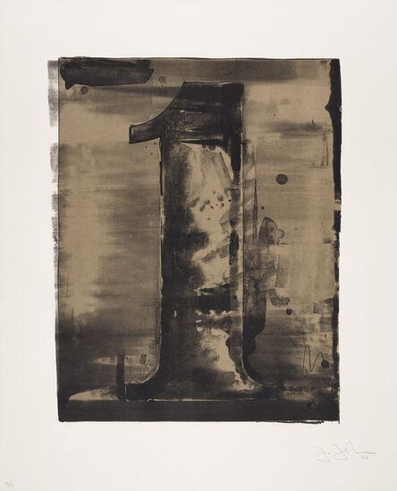 Jasper Johns, 'Figure 1, from Black Numeral Series', 1968
