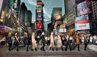 Simon Procter, 'Karl Lagerfeld in Times Square, Editorial for Harper Bazaar 2006, NYC', 2006