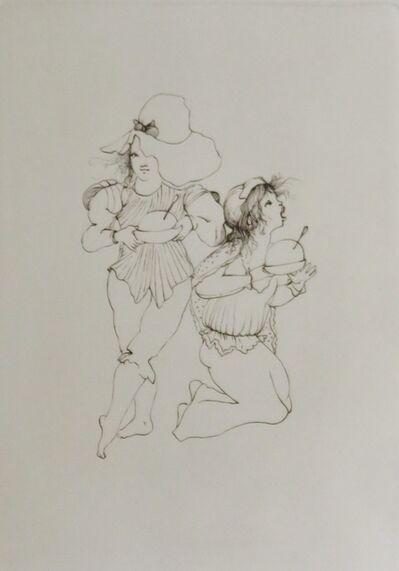 Leonor Fini, 'Les petites filles modèles X', 1973