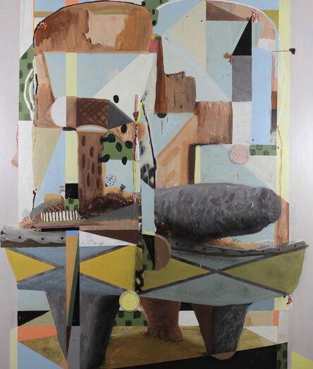 Luis Hampshire, 'Metate estructura detrito', 2017
